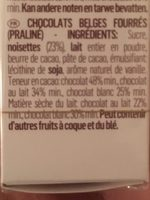 GUYLIAN, Artisanal Belgian Chocolate - Ingredients - en