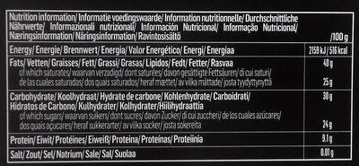 Belgian Chocolate Dark 72% - Información nutricional