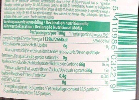 Pur Natur 4-fruits 370G - Voedingswaarden - fr