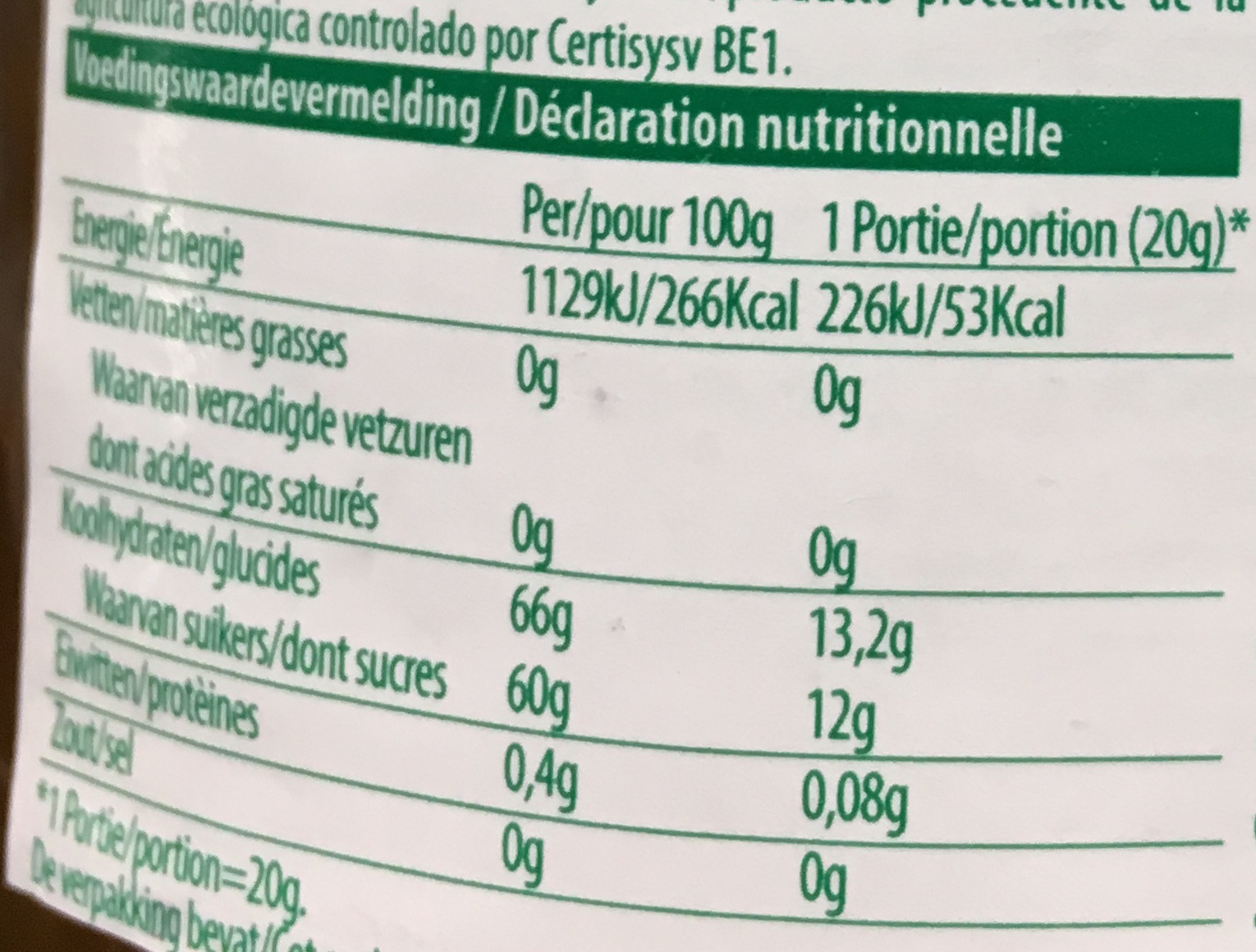 Abricots confiture extra - Nutrition facts