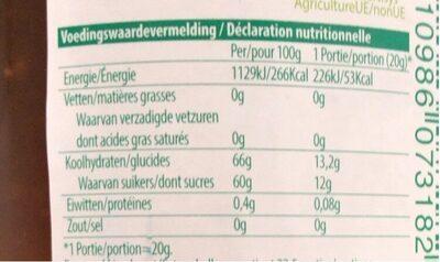Vijgen Confituur bio - Voedingswaarden - fr