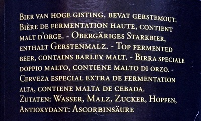 Cuvée du Chateau 2012 - Ingredients - fr