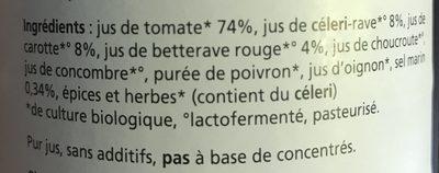 Jus de Santé - Gezondheidsdrank - Ingrédients - fr