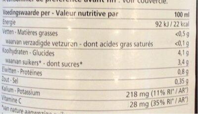 Jus de Santé - Gezondheidsdrank - Informations nutritionnelles - fr