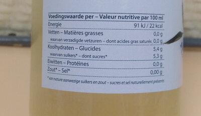 Pajottenlander Fleurs de sureau - Nutrition facts