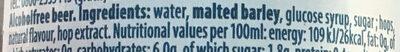 Affligem 0,0% - Ingredients - en