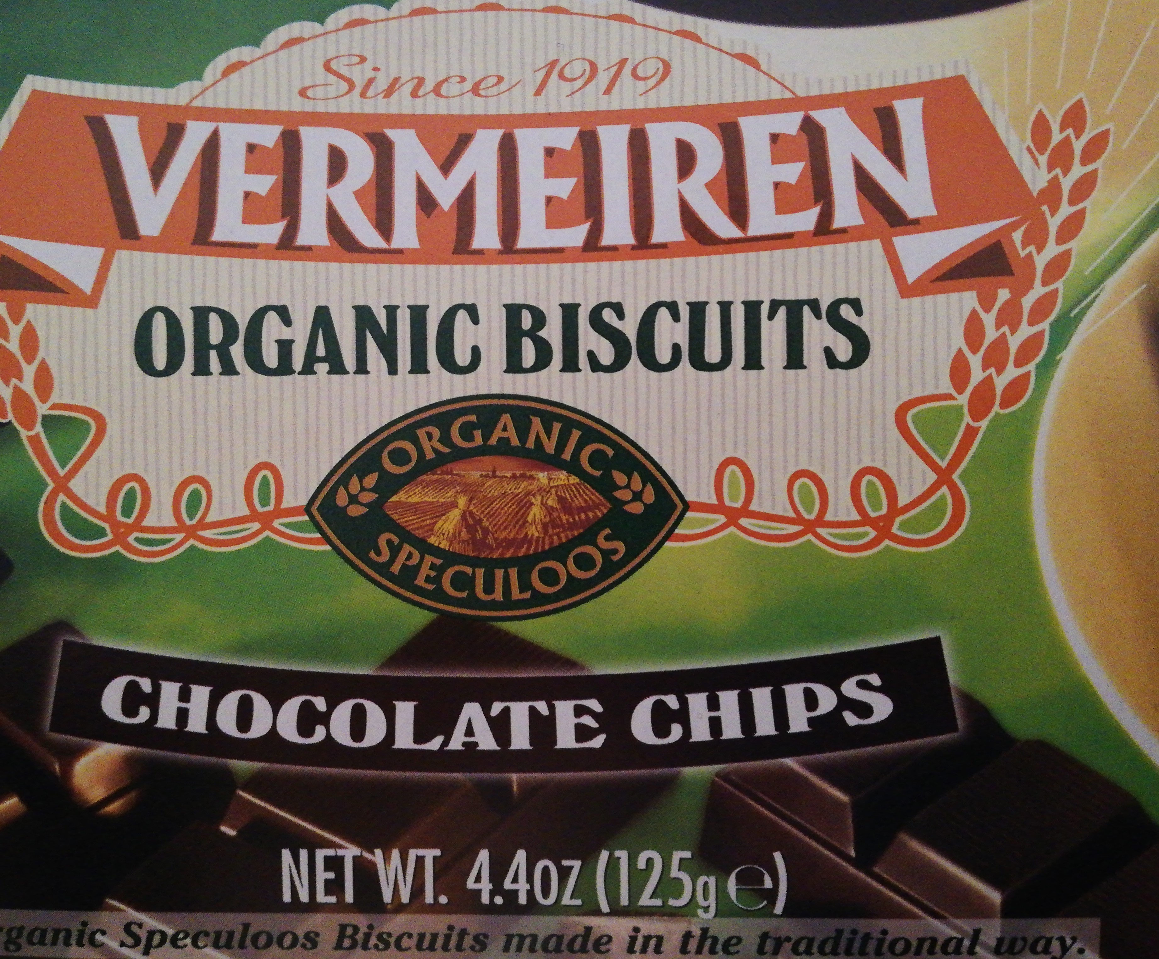 Vermeiren Organic Biscuits Chocolate Chips - Product