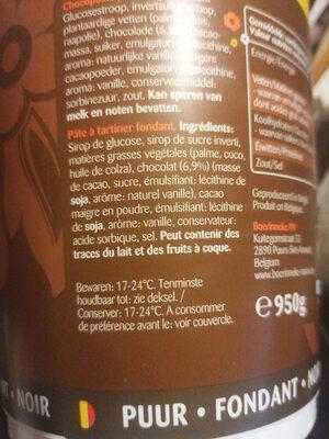 Pate A Tartiner - Ingrediënten - fr