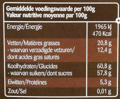 Pépites au chocolat noir - Informations nutritionnelles - fr