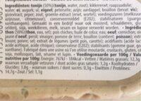Délio Salade De Thon No Mayo - Informazioni nutrizionali - fr