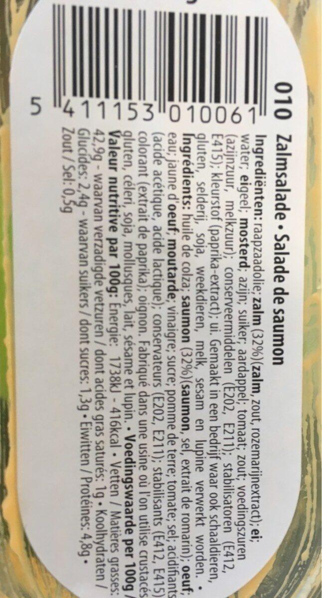 Saumon - Informations nutritionnelles - fr