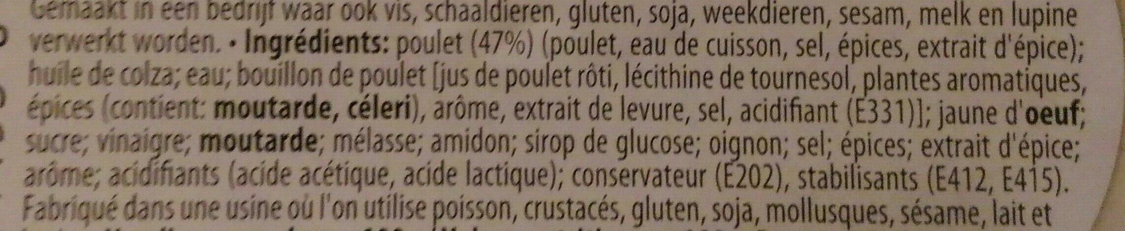 Salade De Poulet 200 gr - Ingrediënten