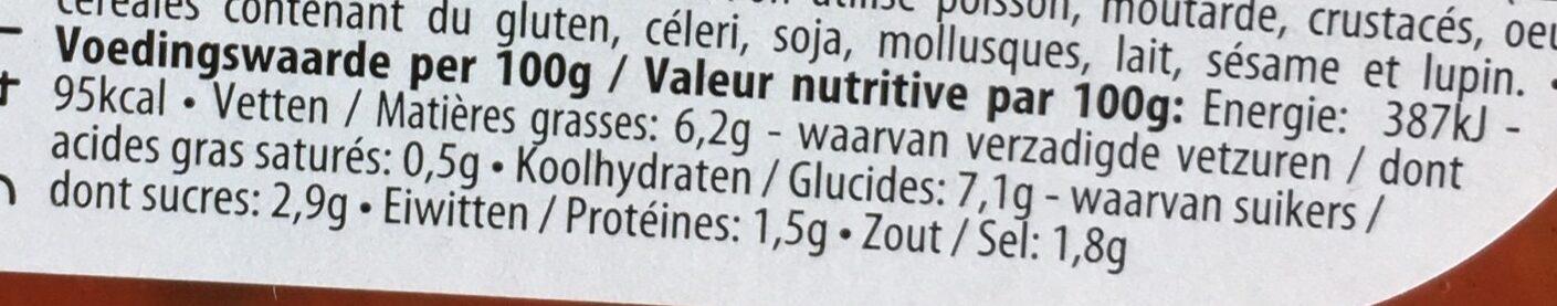 Champignons à la grecque - Voedingswaarden - fr
