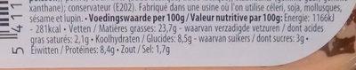Cocktail de homard & crabe - Voedingswaarden - fr