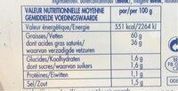 Frigotartinable au sel marin - Informations nutritionnelles - fr