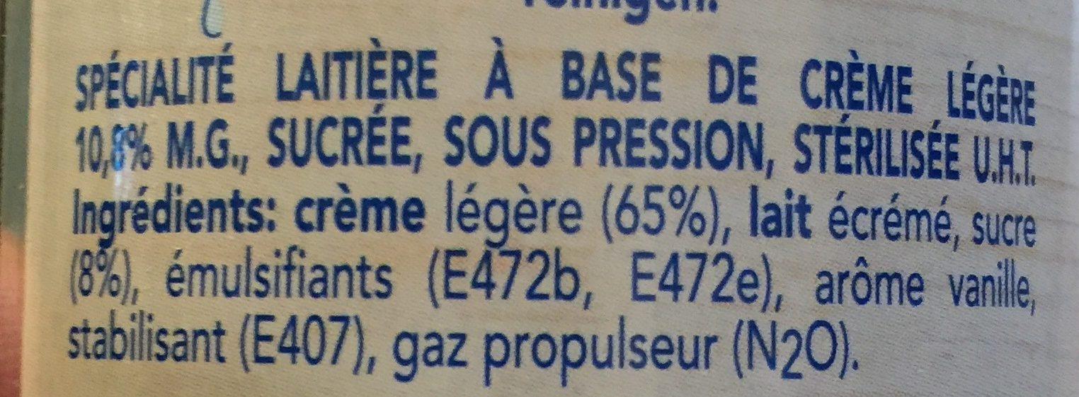 Chantilly - Ingrediënten