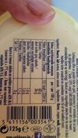 Beurre frigotartinable - Informations nutritionnelles - fr