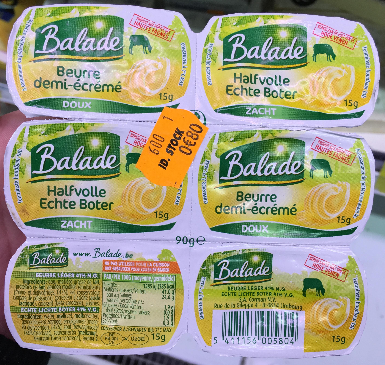 Beurre demi-écrémé doux - Produit - fr