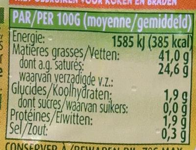 Beurre demi-écrémé doux - Informations nutritionnelles - fr
