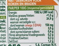 Beurre Balade Omega 3 Sel Marin - Nutrition facts - fr