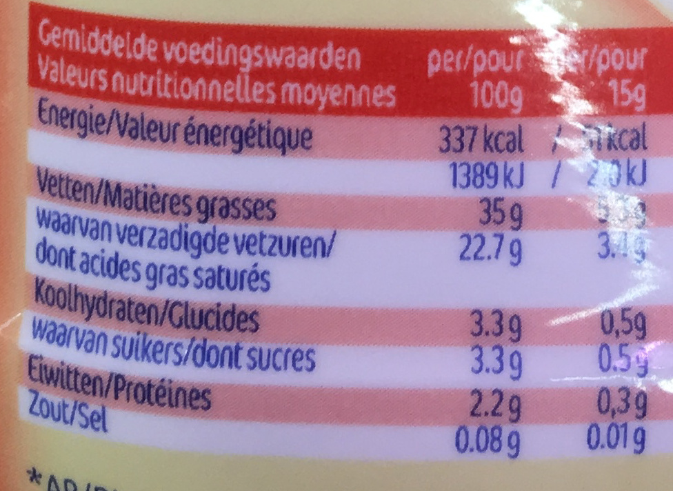 Finesse Crème Culinaire Entière - Voedingswaarden - fr