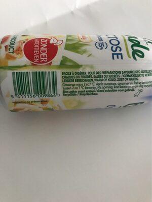 Crème légère - Voedingswaarden