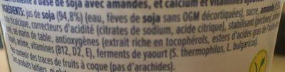 Soja et amandes - Ingredients - fr