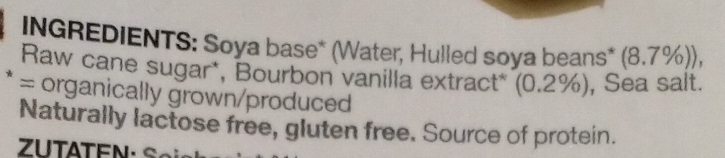 Soya vanilla - Ingredients - en