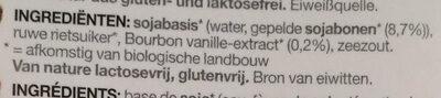 Soya vanilla - Ingrediënten - nl