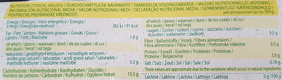 Organic bio dessert soya vanilla - Voedingswaarden
