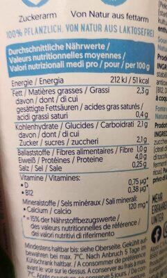 Soya Natur - Informations nutritionnelles - en