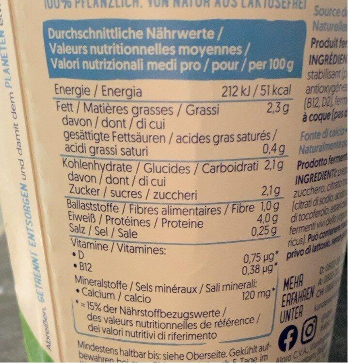 Natur - Nutrition facts - en