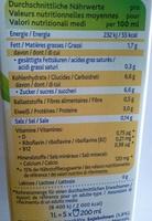 Soya Vanilla - Nutrition facts - de