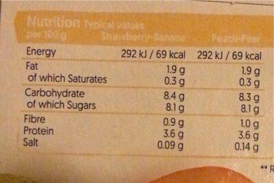 Alpro Smooth Fruit Yogurt 4X125g - Valori nutrizionali - en