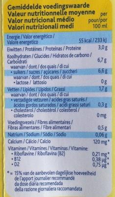 Alpro Soya Vanille - Voedingswaarden