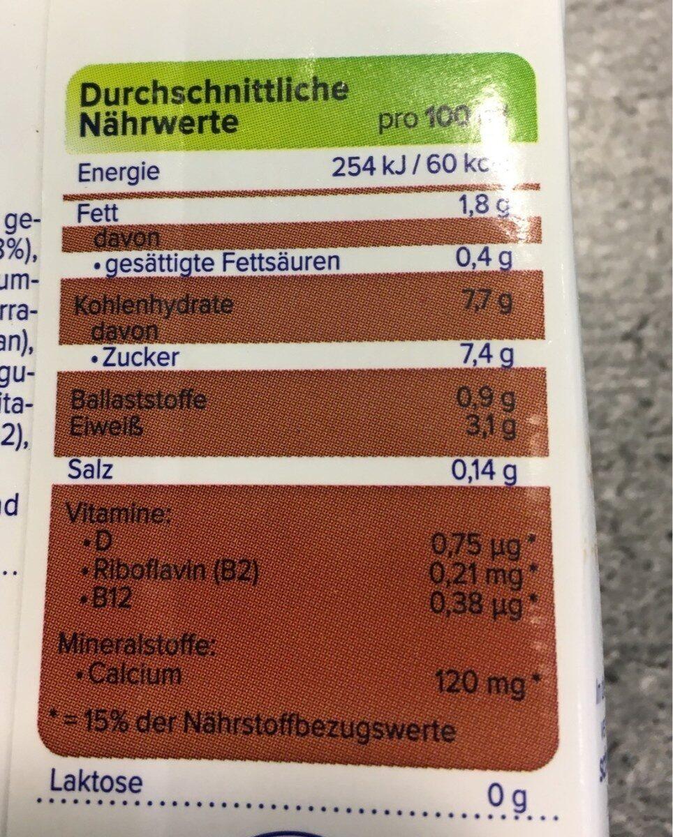 Alpro Soya Drink, Schoko - Nutrition facts - de