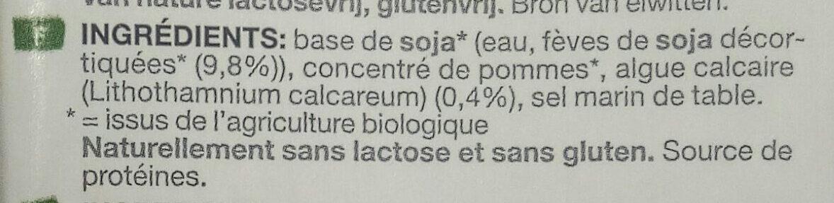 Soya Organic Drink Sweetened (Dark Blue) - Ingrediënten - fr