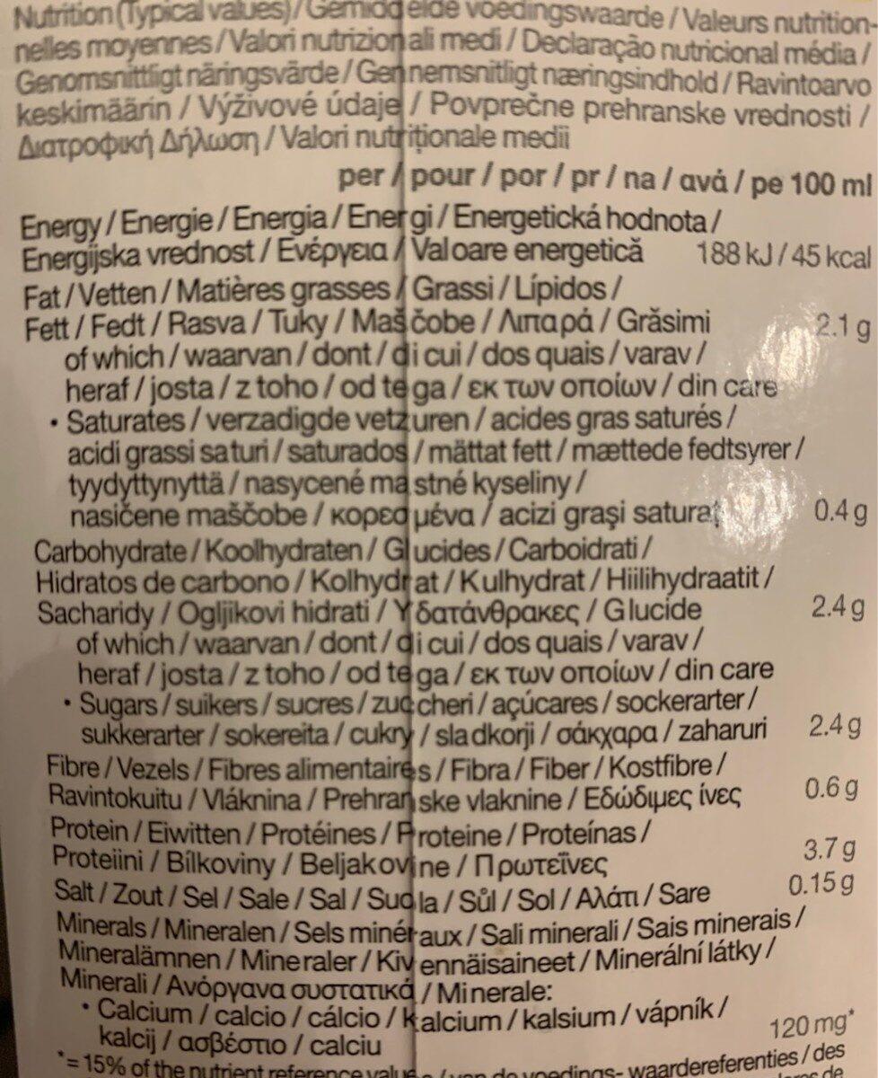 Soya Organic Drink Sweetened (Dark Blue) - Voedingswaarden - fr