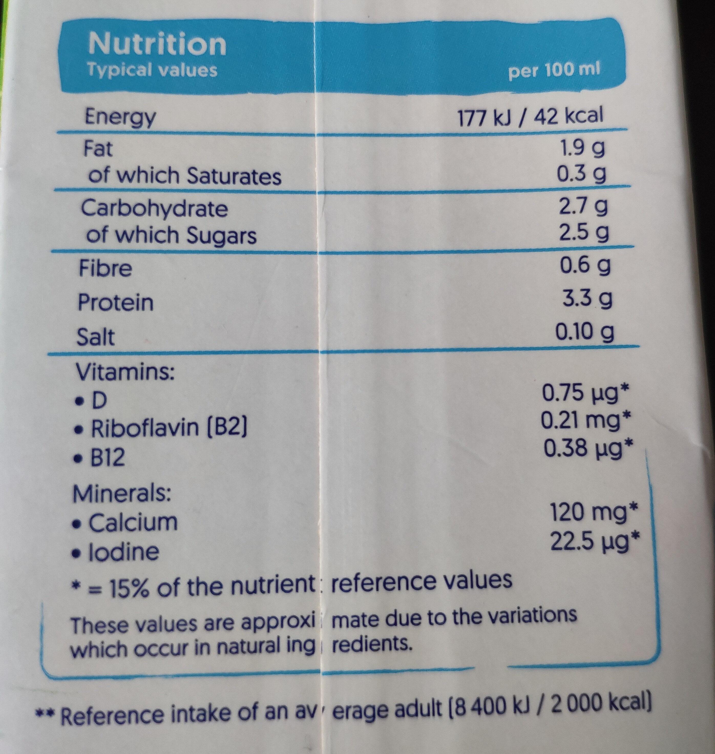 Soya Drink Original - Nutrition facts - en