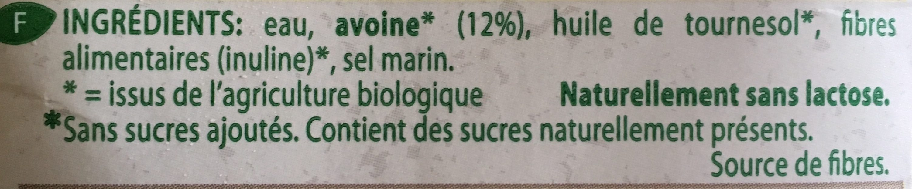 Organic-bio hafer - Ingredients - fr