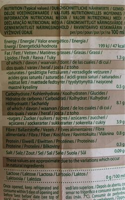 Organic-bio hafer - Nutrition facts - fr