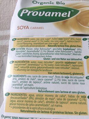 Dessert Soya Caramel - Ingrédients - fr