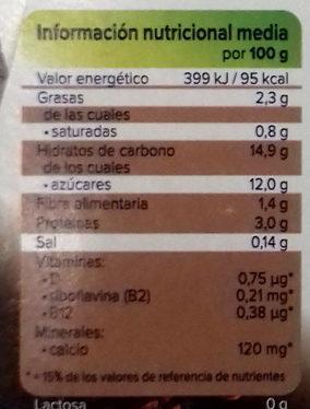 Alpro postre chocolate negro - Información nutricional