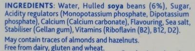 Soya Original Drink - Ingredients