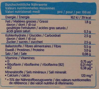 Soya Original Drink - Nährwertangaben - de