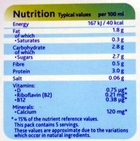 Soya Original Drink - Nutrition facts - en