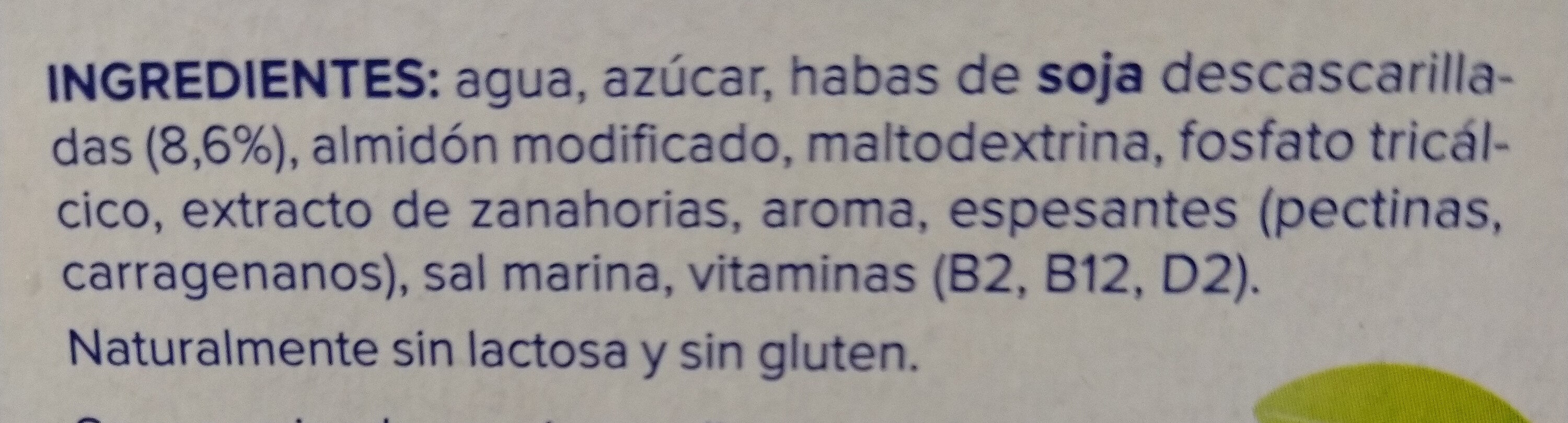 Postre de soja sabor vainilla - Ingredients