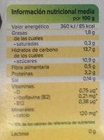 Postre de soja sabor vainilla - Informations nutritionnelles - fr