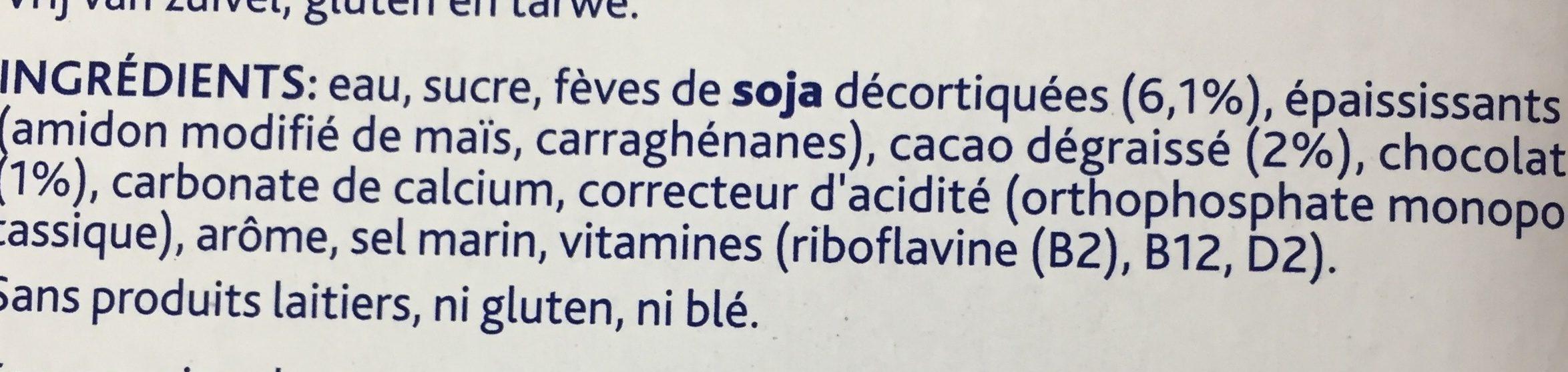 Smooth Chocolate - Ingrédients - fr
