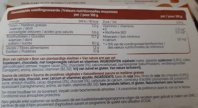 Soya dessert smooth chocolate - Informations nutritionnelles - fr